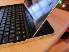 Logitech Keyboard Case with iPad 2 Inserted in Slot