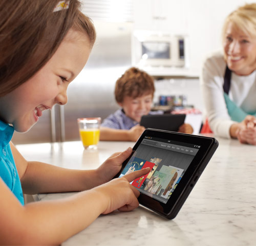 Kids playing with Fire - Kindle Fire