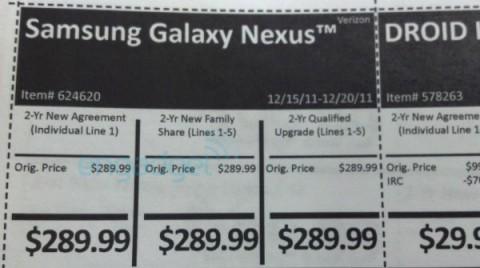 Verizon Galaxy Nexus