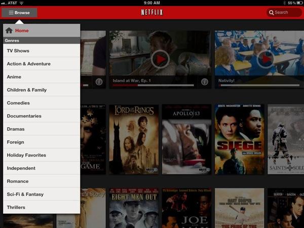 Netflix iPad App