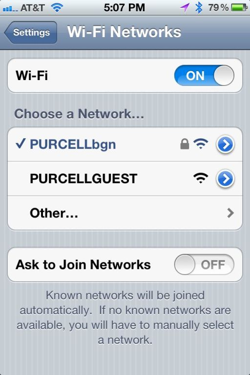 Wi-Fi Networks Notifications Settings