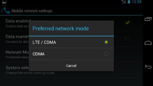 Turn off 4G LTE on Galaxy nexus Step 4