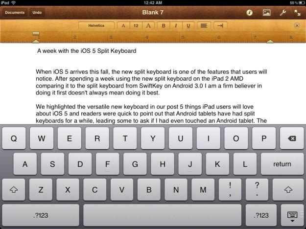 iPad keyboard docked