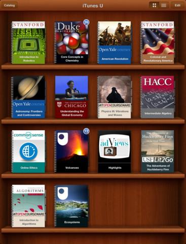 iTunes U Looks like iBooks