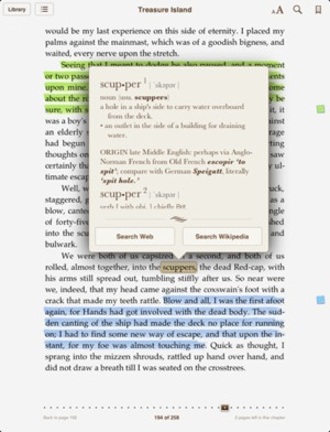 iBooks Glossary Highlighting and Notes