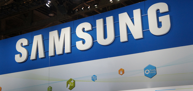Samsung Logo at the CES booth