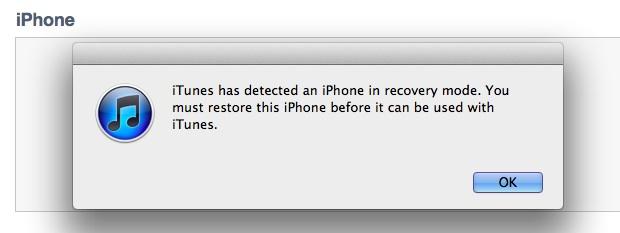 unjailbreak iPhone 4S DFU mode