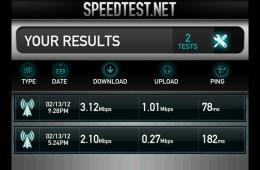 Galaxy Note Speedtest Results