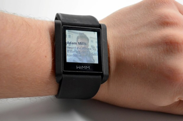 Smart Watch WIMM One Text notification