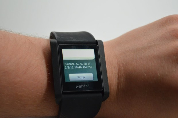 Smart Watch WIMM - Paying for Coffee