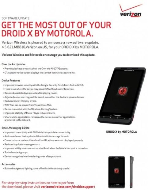 Motorola Droid X Gets Massive Bug Fix Update