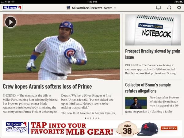 MLB At Bat 12 iPad App