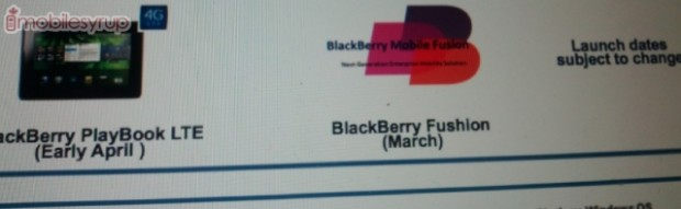 BlackBerry PlayBook LTE Launching in Early April?