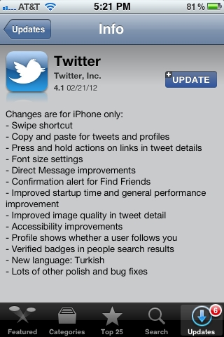 Twitter Updates Apps for Android and iOS