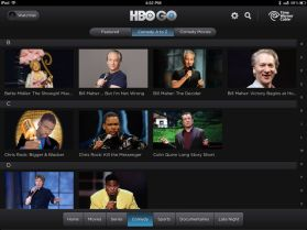 HBO GO Review - navigation