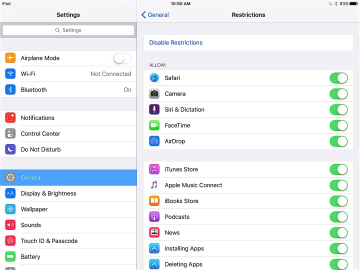 You can control access to many apps, but not all with iPad parental controls.