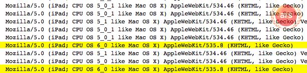 iPad 3 iOS 6 logs