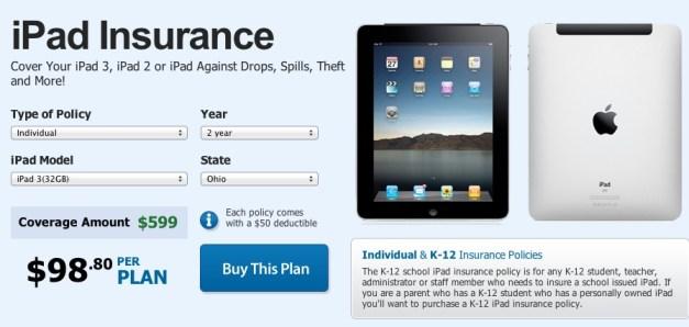 iPad 3 insurance