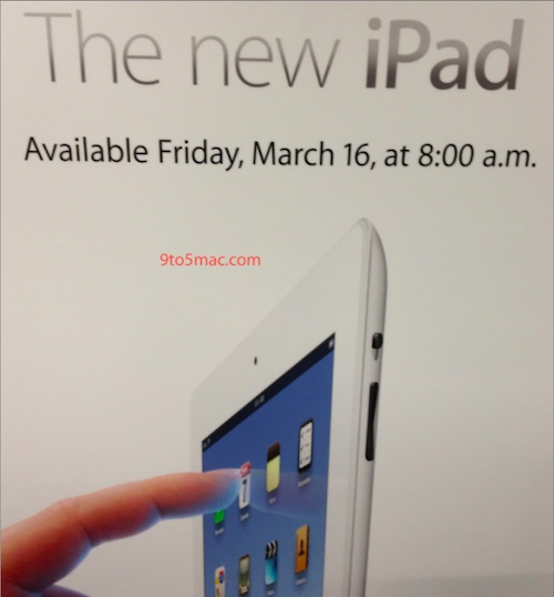 Ipad 3 launch 8am
