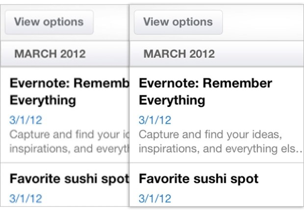 Evernote for iOS Updated to Support iPad's Retina Display