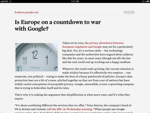 Readability Article View