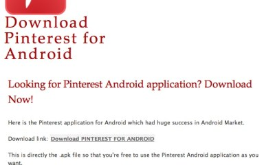 Download Pinterest for Android and Get Ads