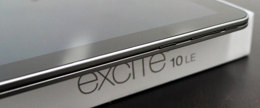 Excite 10 LE Unboxing Power Volume