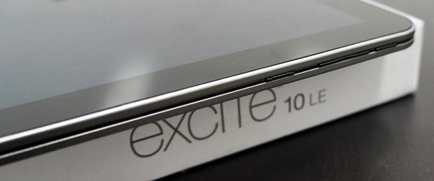 Excite 10 LE Unboxing Power Volume