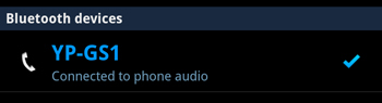 Galaxy Player Connected As Phone Audio