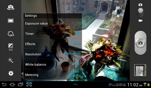 Galaxy Tab 2 Camera App
