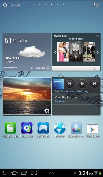 Galaxy Tab 2 Home Screen
