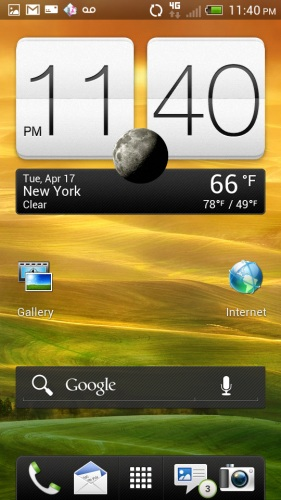 HTC One S - Home Screen