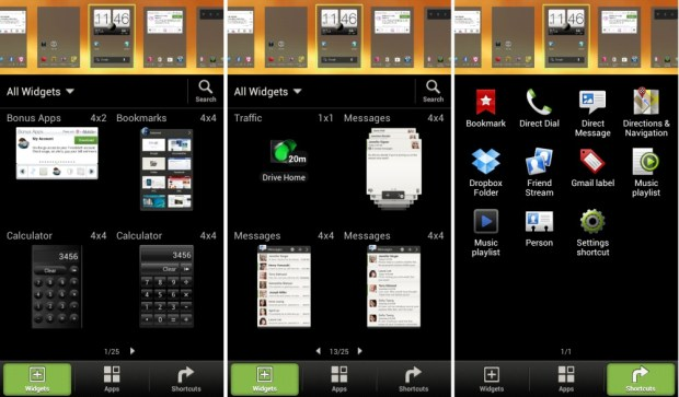 HTC One S - Widget Browser Sense 4