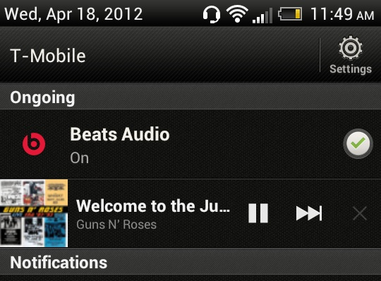 HTC One S - Beats Audio On
