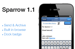 Sparrow for iPhone 1.1