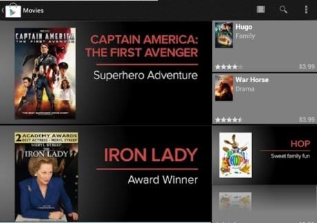 Galaxy Tab 2 Google Movies