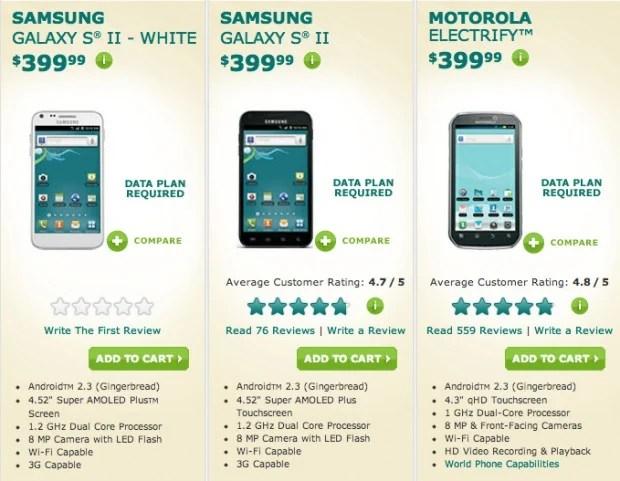 US Ceulluar prepaid phones