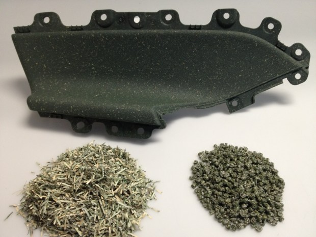 armrest w shredded currency and pellets