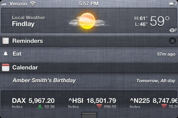 Slide to clear notifications in iOS 6
