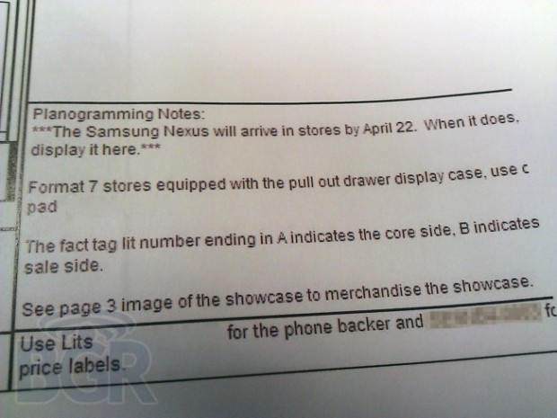 Sprint Galaxy Nexus Release Date All but Confirmed