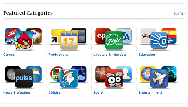 Nook App Store Featured