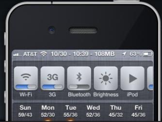 quick settings iPhone iOS 6