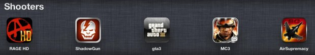 top ipad games - Shooters