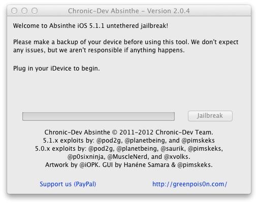 Absinthe 2.0.4 iPhone 4S Jailbreak