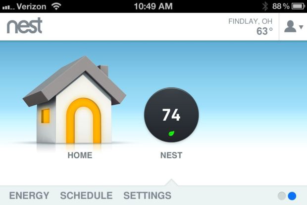 Nest Learning Thermostat - iPhone app