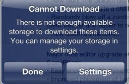 No Storage iPhone