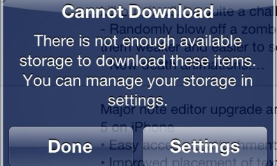 No Storage iPhone