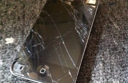 broken iphone 4 cracked