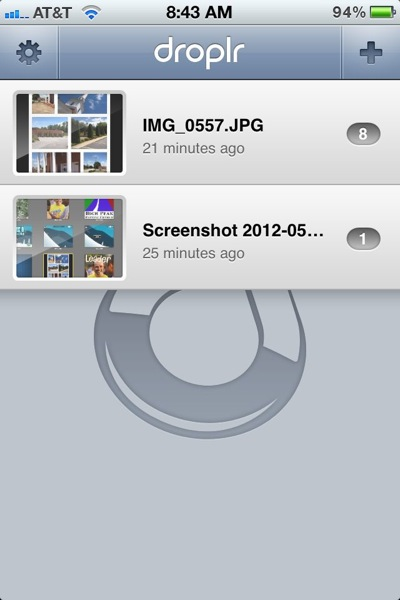 Droplr iPhone App
