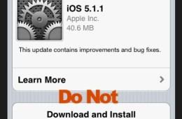 iOS 5.1.1 Update - iPhone 4S Jailbreak